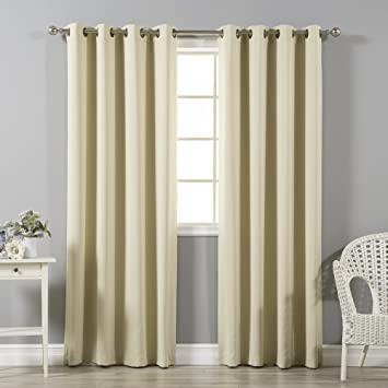 Delightful Best Home Fashion Thermal Insulated Blackout Curtains   Antique Bronze  Grommet Top   Beige   52u0026quot