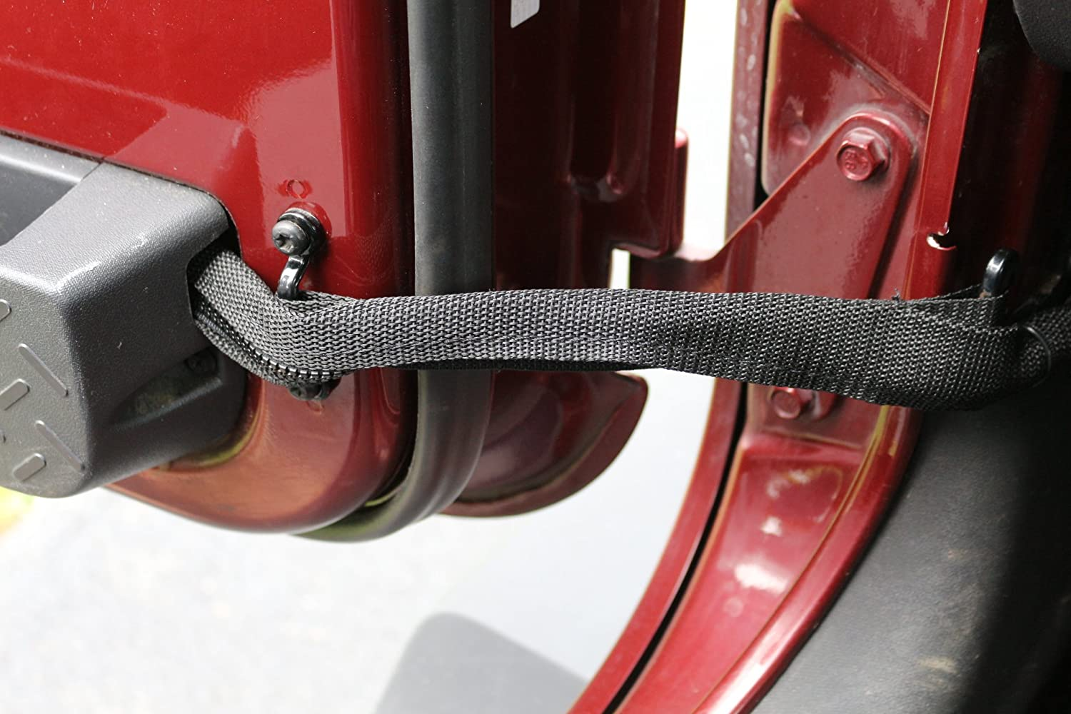 jeep wrangler door limiting straps with wire protecting harness for  jku0027s - - amazon com