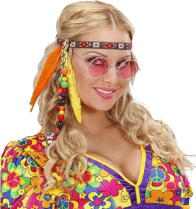 Hippie vendas con los granos y las plumas de accesorios para el ...