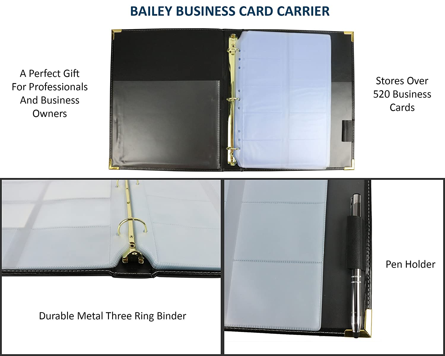 Amazon.com : Bailey Business Card Book Holder : Office Products