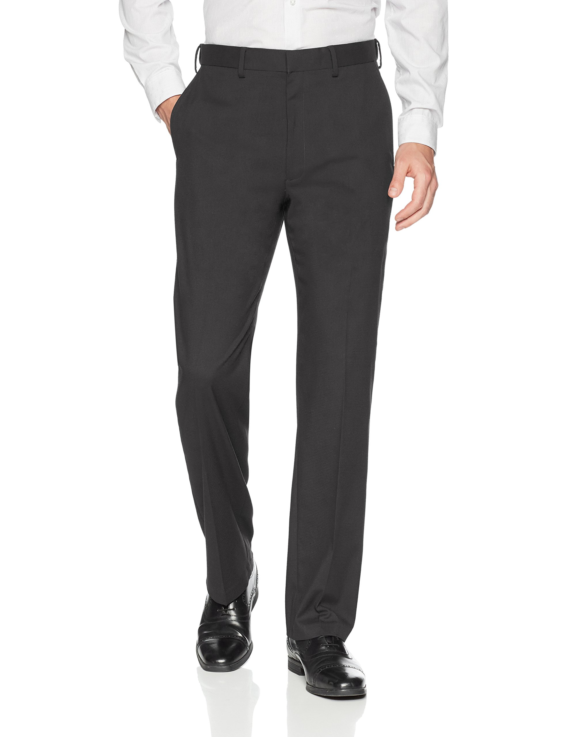 Haggar Men's J.m Premium Check Classic Fit Suit Separate Pant, Black, 34Wx30L
