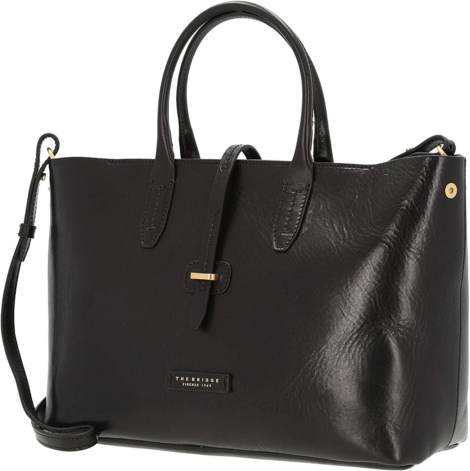 The Bridge Dalston Shopper Borsa tote pelle 35 cm Black-gold