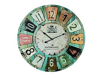 Holz Wanduhr U0026quot;Chateauu0026quot; Ø 60 Cm, Grosse Uhr ...