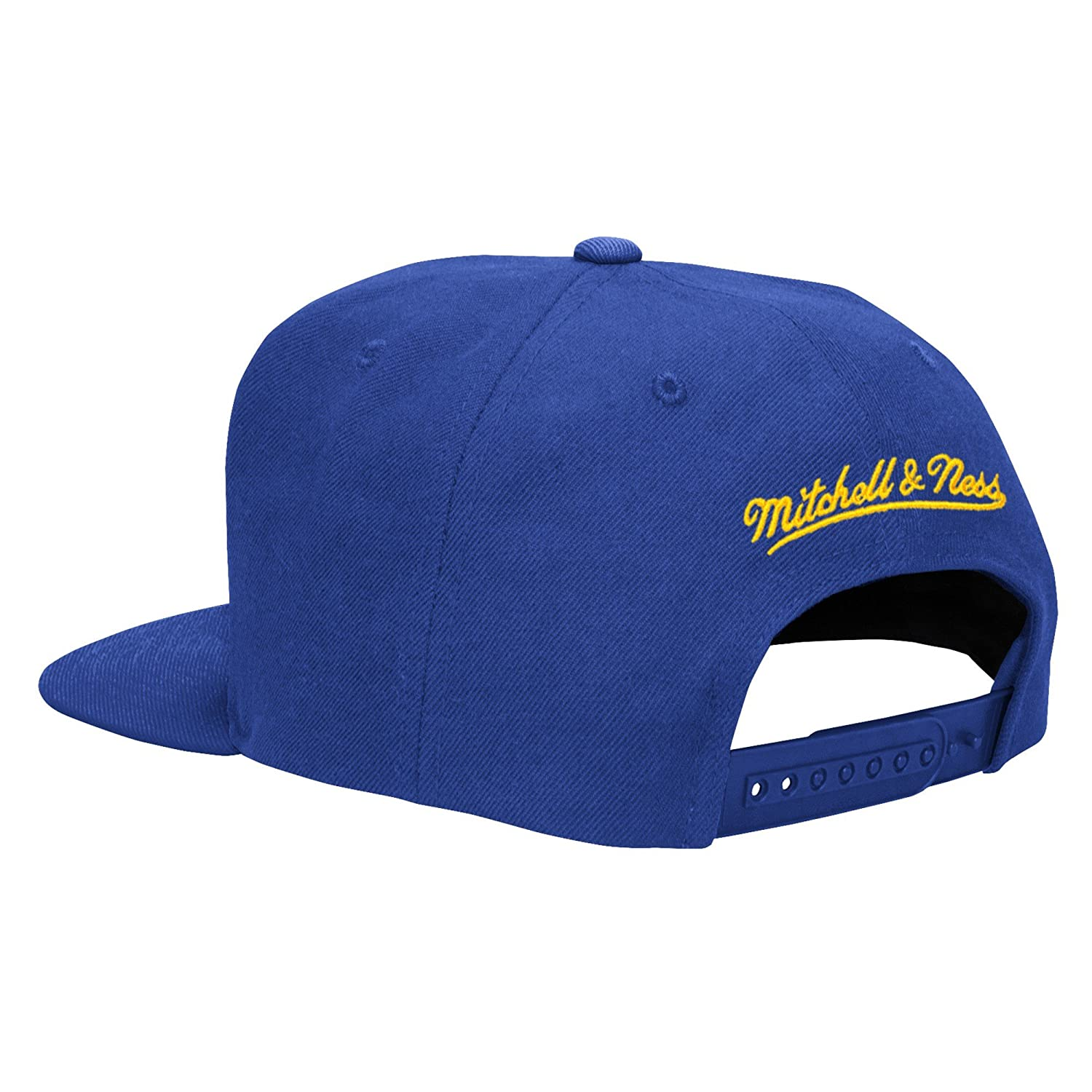 760c09bb760710 Amazon.com : Golden State Warriors NBA Mitchell & Ness Solid Adjustable Snapback  Hat - Blue : Sports & Outdoors