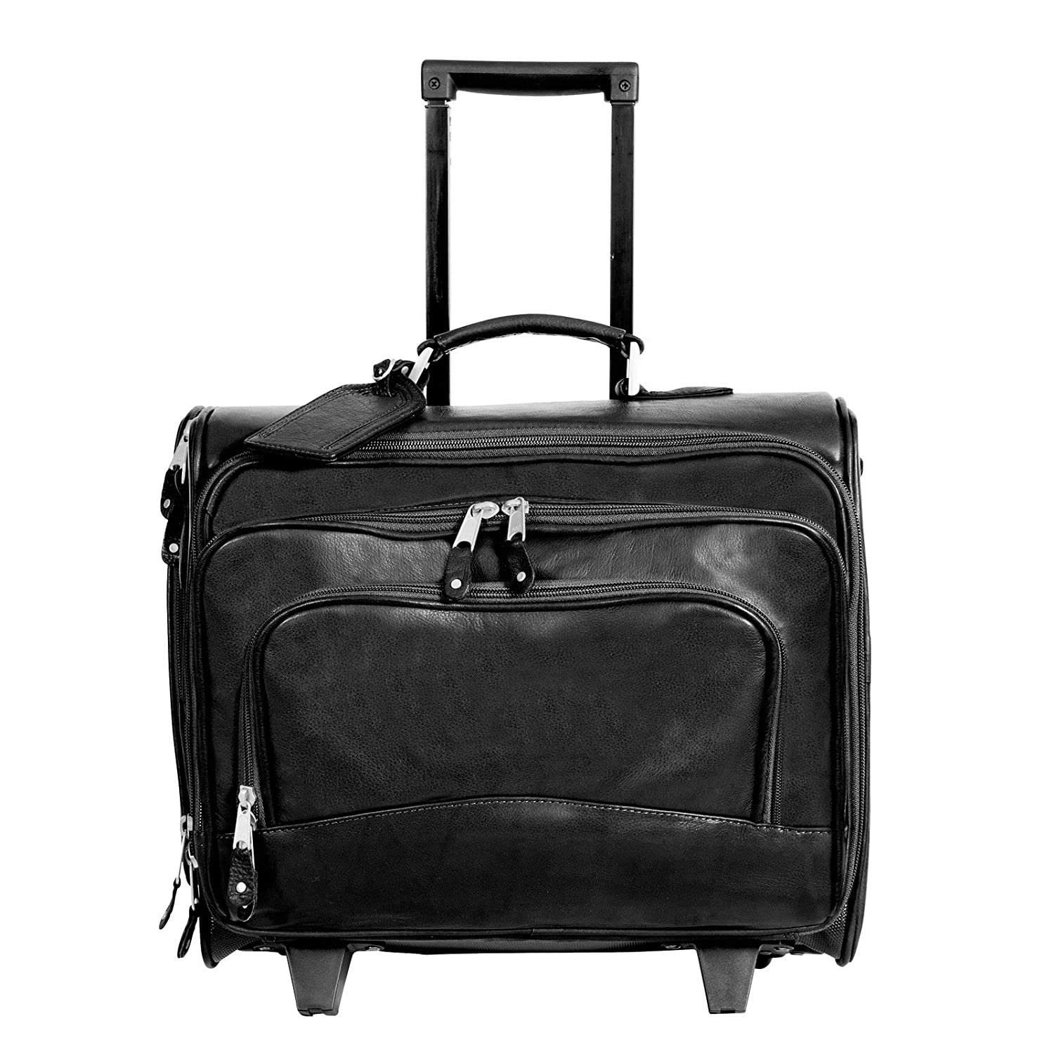 Black Canyon Outback Table Rock Leather Rolling Computer Briefcase