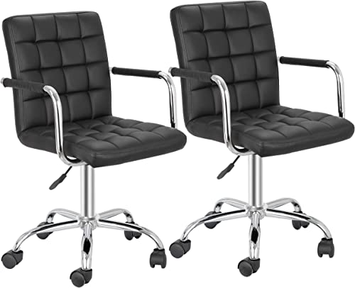 SUPER DEAL Modern Mid-Back Desk Office Chair