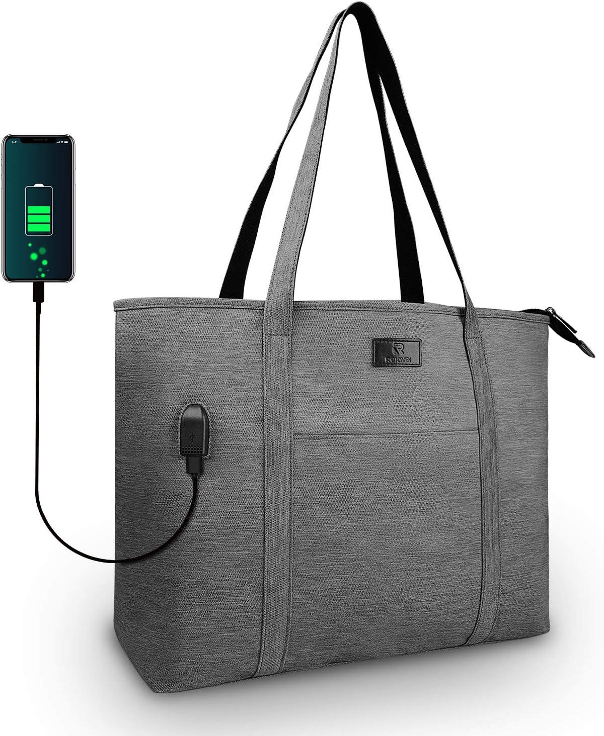 Laptop Tote Bag Large Work Bag Teacher Purse Fits 15 Inch Laptop USB Port
