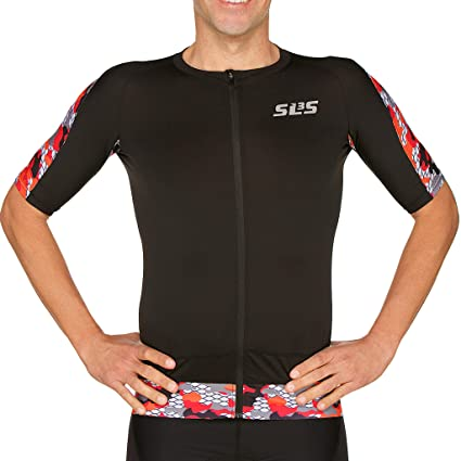 c6bb500f0af044 Amazon.com   SLS3 Triathlon Tri Top Men Short Sleeve