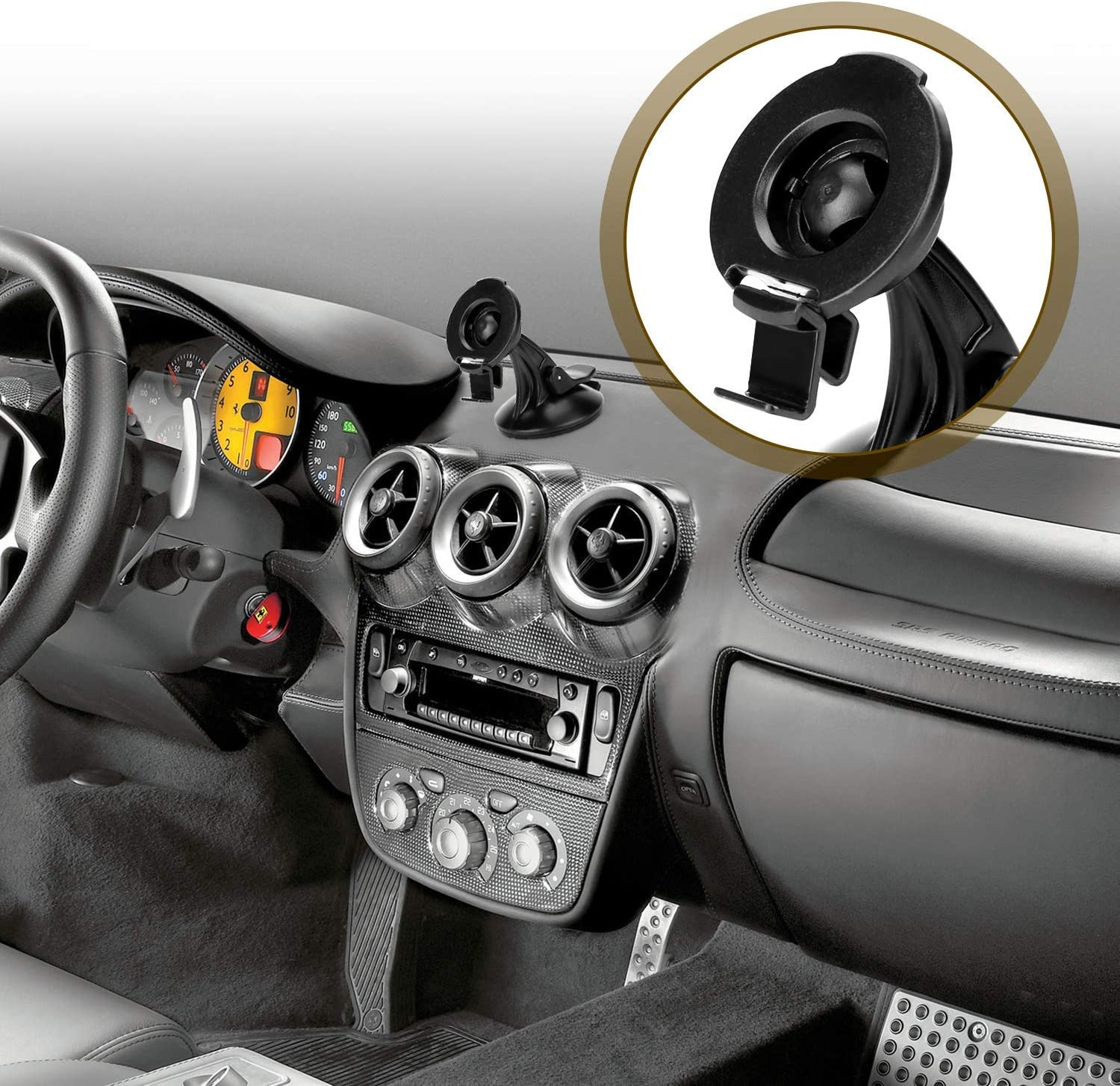 Compare to Garmin 010-11765-01 Y-SPACE Replacement Bracket Mount Compatible with GPS Garmin Nuvi 40 40LM