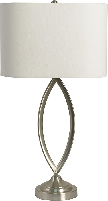 Décor Therapy TL14121 Brushed Steel Table Lamp