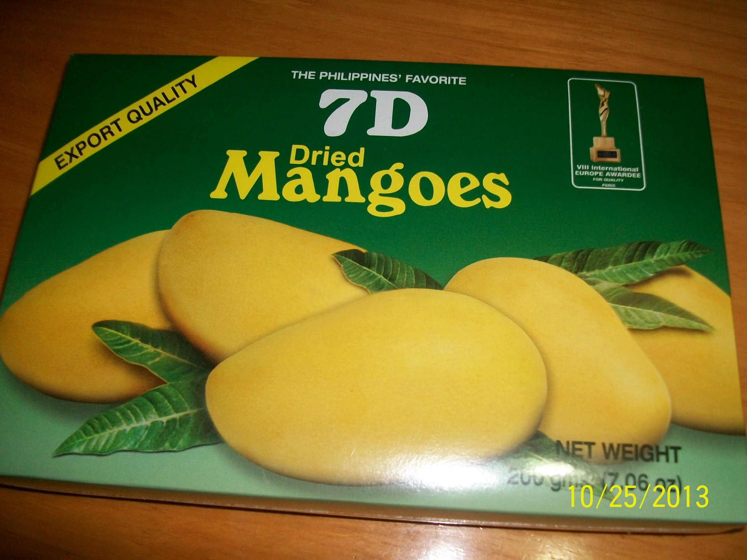 7D Dried Mangoes Philippines' Favorite 1 box (200g)
