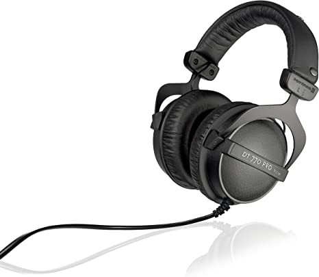 Beyerdynamic Dt 770 Pro 32 Ohm Over Ear Studio Headphones In Black Closed Design Wired For Professional Sound In The Studio And On Mobile Devices Such As Tablets And Smartphones Musical Instruments