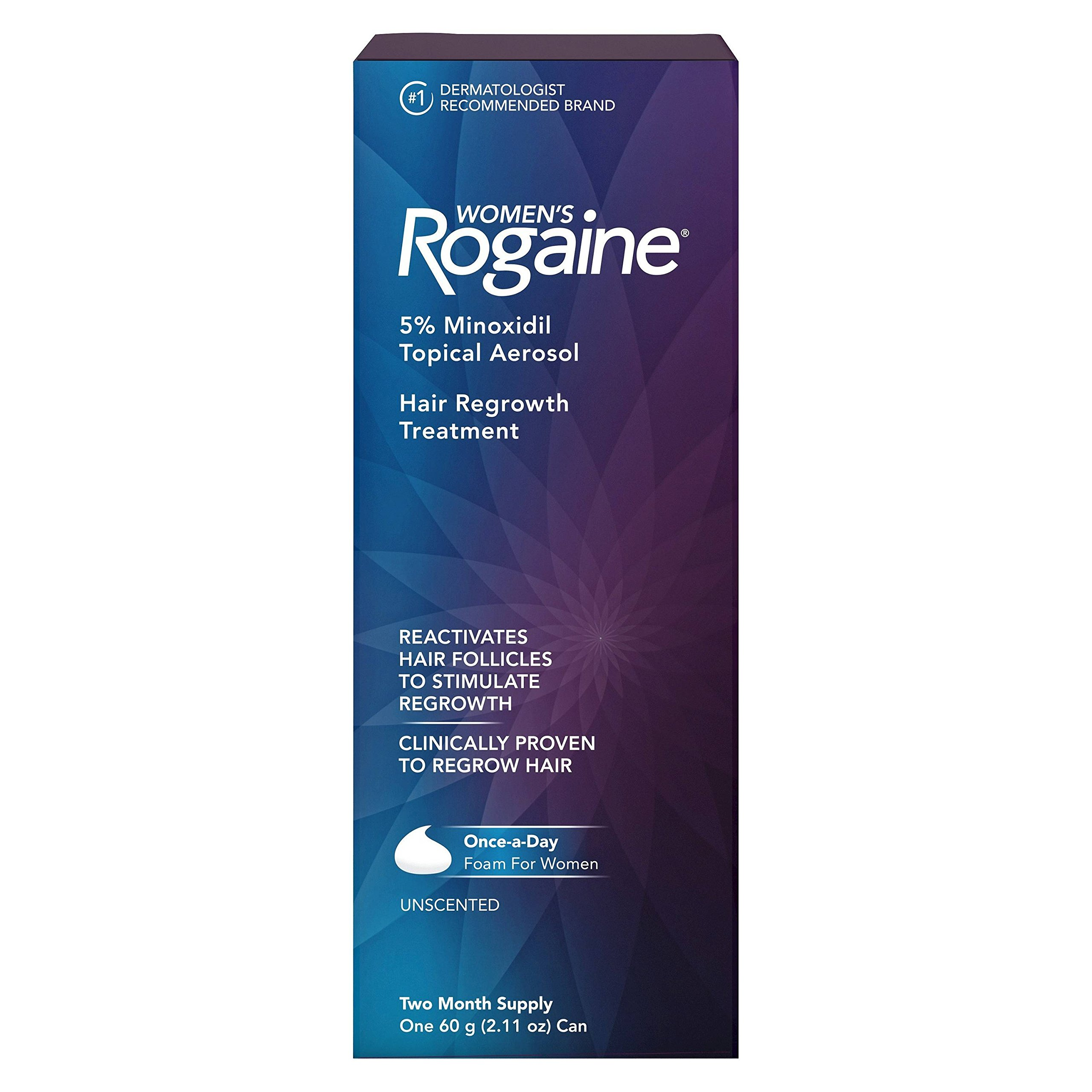 Women's Rogaine Once-a-Day Foam Hair Regrowth Treatment, 2.11oz. Per Pack (3 Pack)