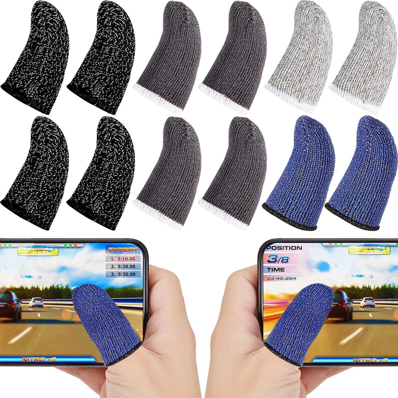 BESPORTBLE 10pcs Touchscreen Fingerling Finger Sleeve Mobile Game Finger Controller Bildschirm Fingerh/ülle Handy Game Schwei/ßfest rutschfest Daumen Finger Abdeckung Schwarzer Rand