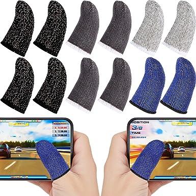 Random Color Garneck Touch Screen Finger Sleeve Mobile Phone Game Controller Finger Sleeve Anti Sweat Touchscreen Finger Cover Finger Protector 10pcs