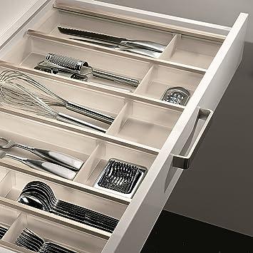 SO-TECH® 120er Cuisio Besteckeinsatz weiß transluzent mit Messerblock  Besteckkasten Schubladeneinsatz