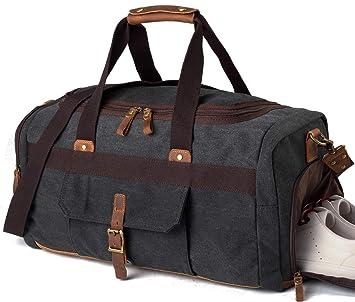 2616015b3803 Weekender Overnight Duffel Bag Shoe Pocket for Women Men Weekend Travel Tote  Carry On Bag (