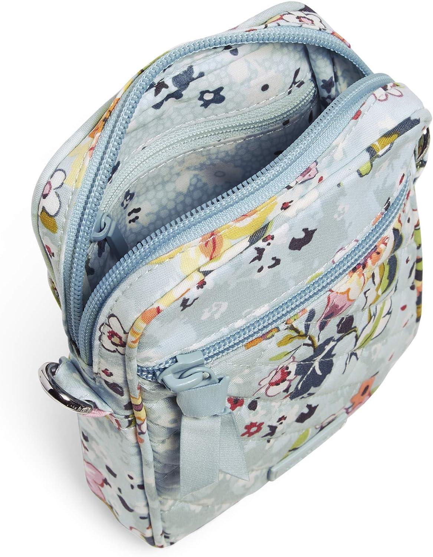 Vera Bradley Signature Petit sac à bandoulière convertible en coton avec protection RFID Jardin Flottant.