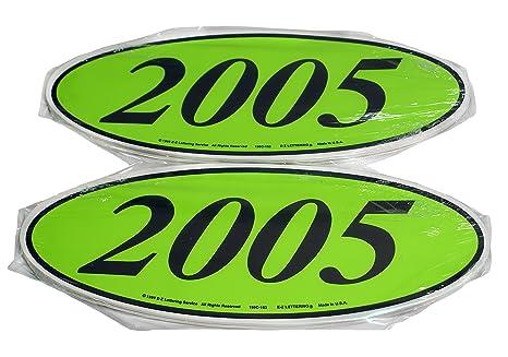 Oval Model Year Windshield Dealer 2 Dozen Stickers Chartreuse Greenblack Window Sticker Cb 2005