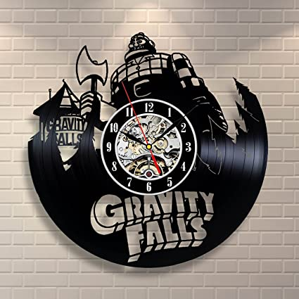 Gravity Falls Vinyl Record Clock Art Home Decor Room Design