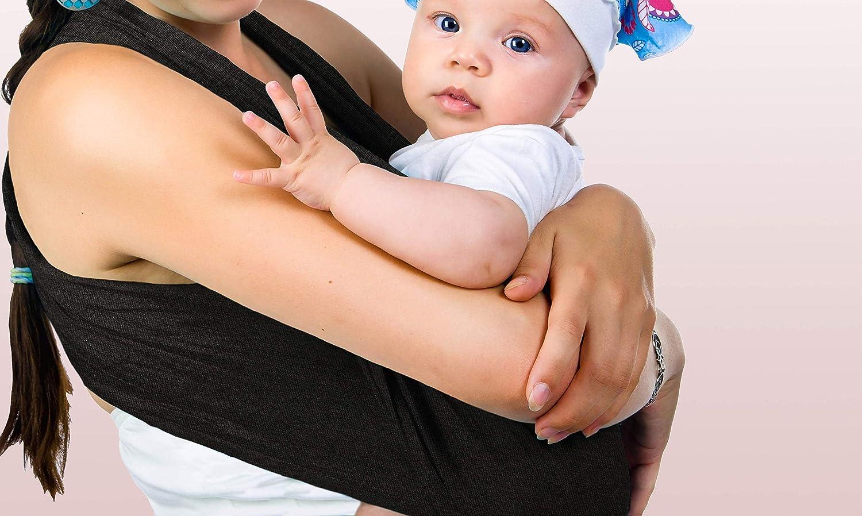 EU Marke Tragetuch baby aus Bio Baumwolle Babytragetuch Neugeborene Sicherheitszertifikat Elastisches Baby Sling Wrap Gewebtes Tragetasche Traget/ücher PiccolOrganics Handgemacht BIO Babytrage GOTS