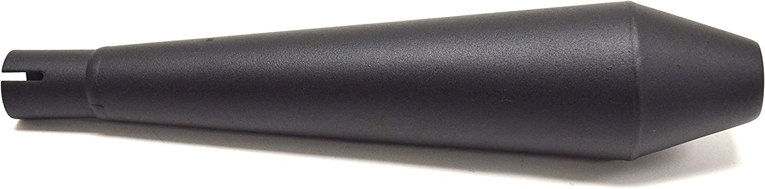 12 Stainless Steel Performance Motorcycle Muffler Reverse Cone Black 1.0 Inlet ID by Niche Cycle Supply
