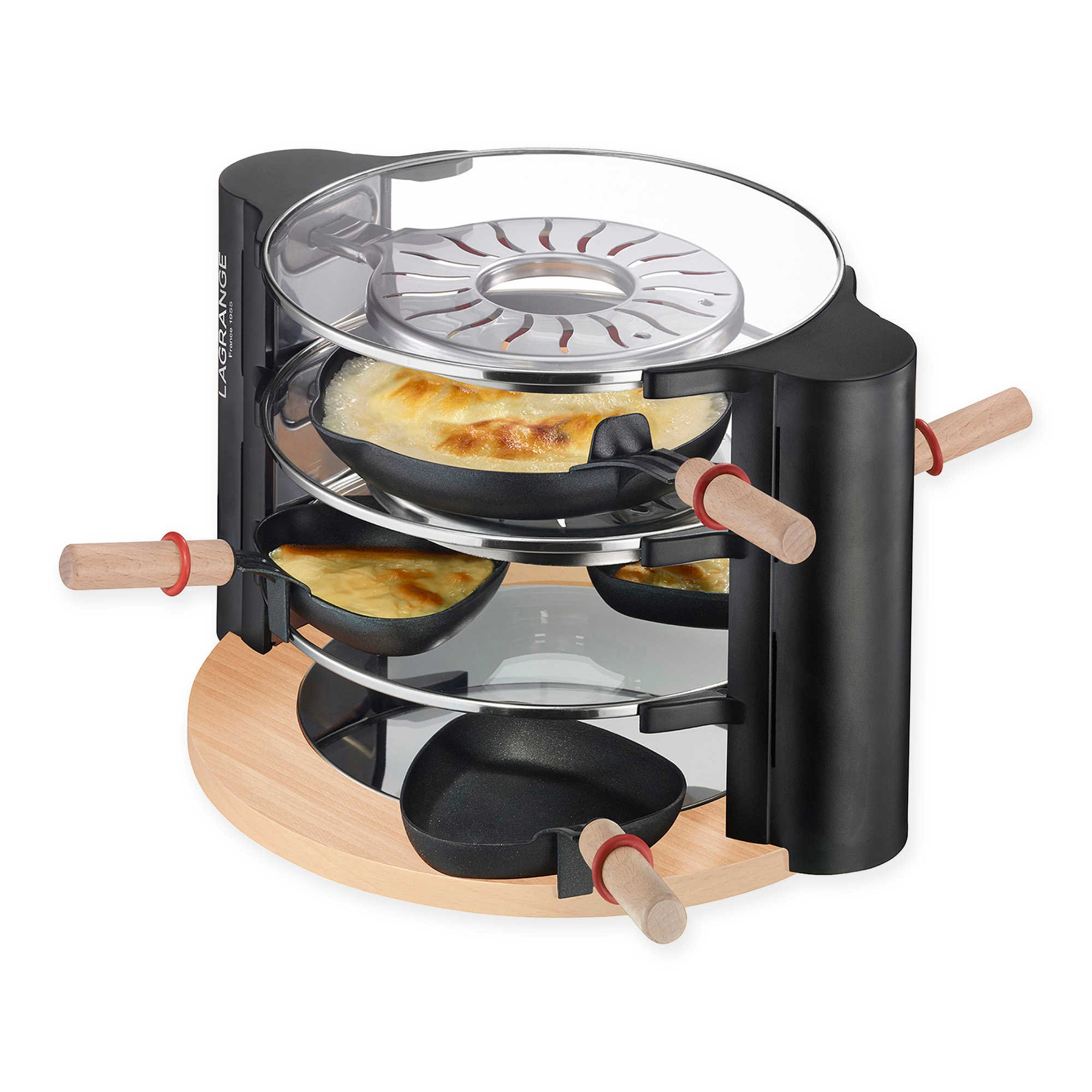 Lagrange Evolution Family Sized Raclette Grill, Features 2 Independent Cooking Surfaces by Lagrange