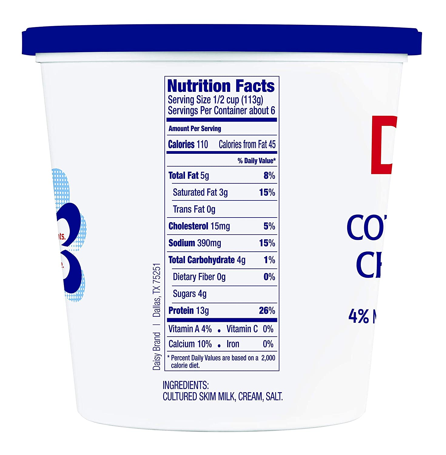 Astonishing Daisy 4 Cottage Cheese 24 Oz Home Interior And Landscaping Oversignezvosmurscom