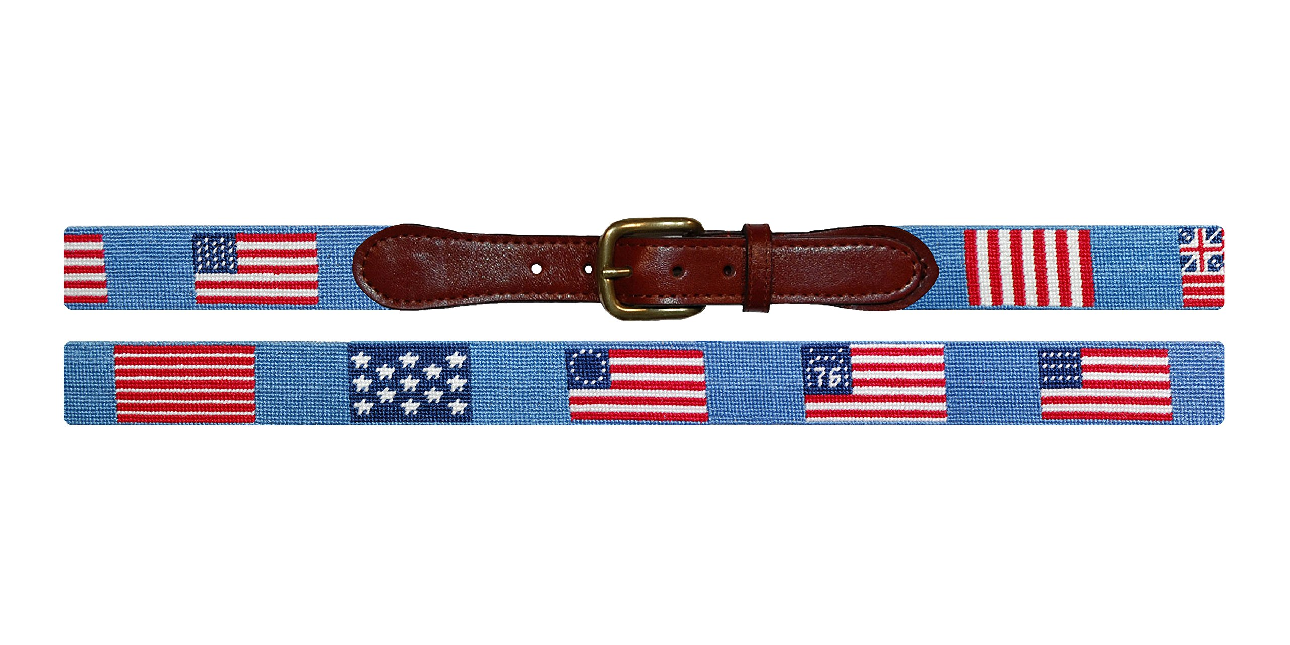 Smathers & Branson Flags of our Fathers Traditional Needlepoint Belt, Size 36 (B-240-36)