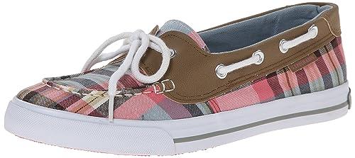 Women's Stacy Boat Shoe, Strawberry/Sky