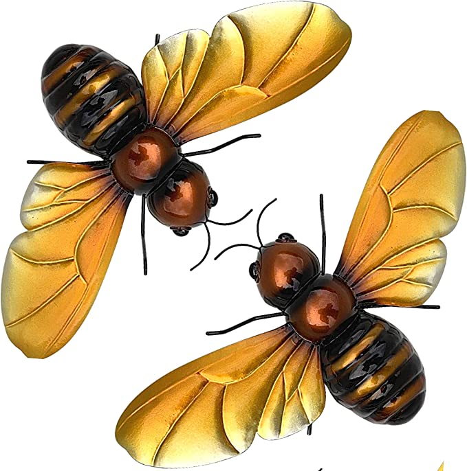 and Deck Patio Queen Bee Metal Art Print for Decorating Porch