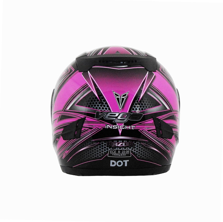 Vega Insight Full Face Helmet with Razor Graphic Blue, Medium 6804-023