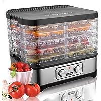 Meykey Food Dehydrator with Temperature Controller 35-70°C, Fruit-Meat Dryer, Digital Dehydrator, BPA-Free