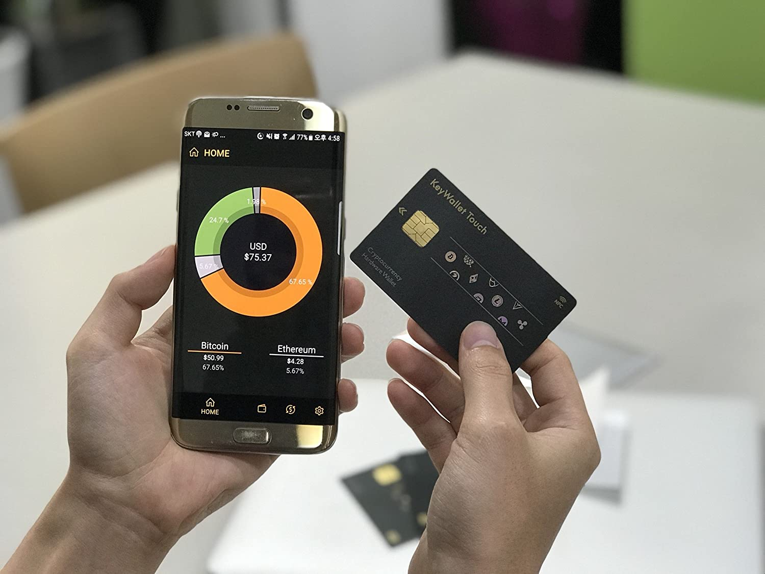 Keywallet Touch Cryptocurrency Cold Hardware Nfc Plz5 Smpale Credit Card Typed Wallet Camera Photo
