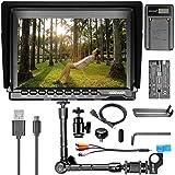 Neewer NW759 7インチHDカメラモニターキット 1280x800 IPSスクリーンカメラモニター+ 11インチマジックアーム+ USBバッテリー充電器+ F550交換用バッテリー Sony Canon Nikon Olympus Pentax Panasonicに対応