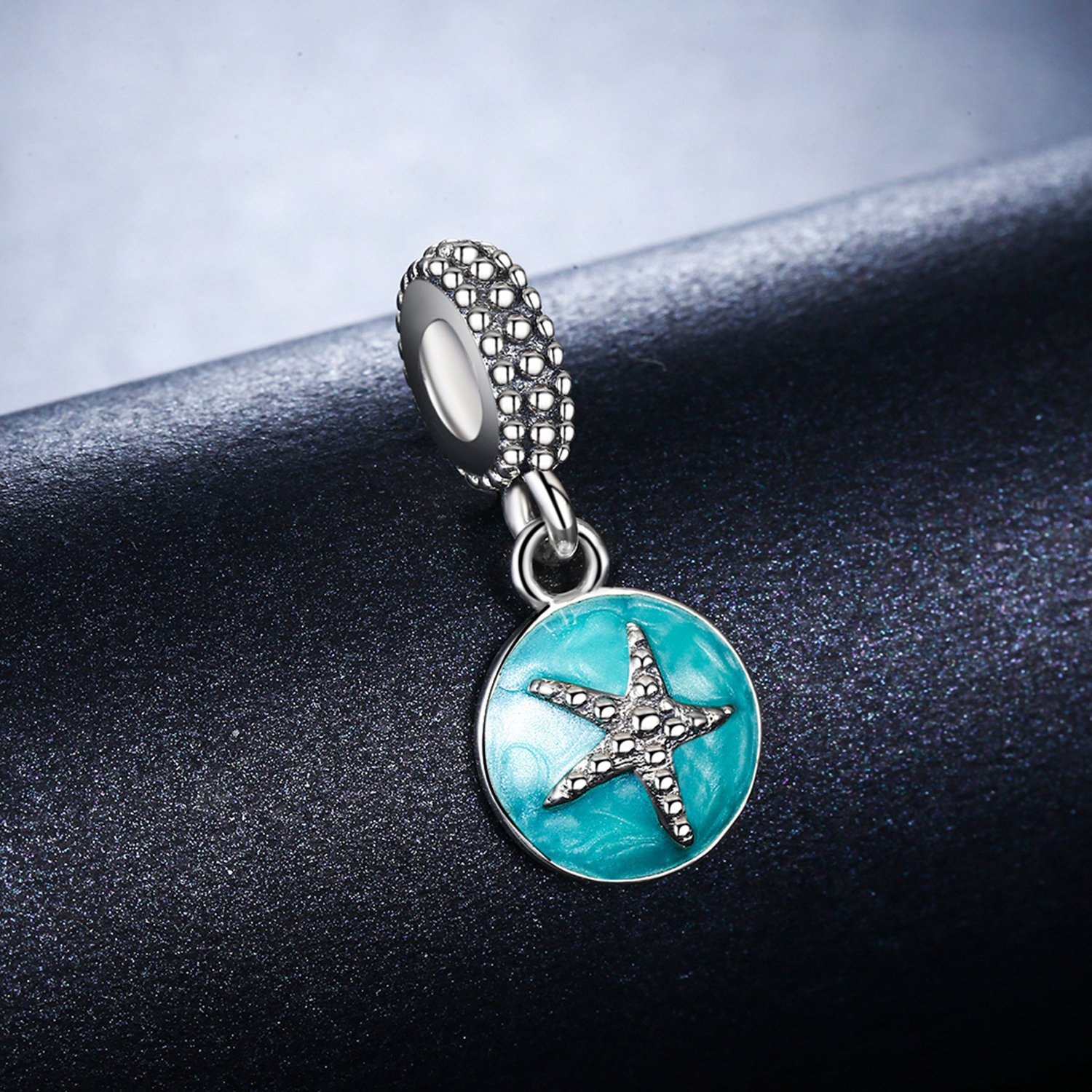 YOUFENG Jewellery Starfish Dangle Charms Bead Blue Enamel Lucky Star Spacer Charms Fit Snake Chain Bracelets and Necklace bnPjmqK