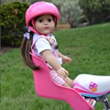 Pink Doll Bike Seat with Decorate Yourself Stickers for 18 inch Dolls