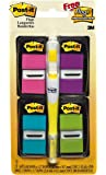 Post-it Flags Value Pack, Assorted Bright Colors, Stays Where You Place Them and Repositions as Needed, 1 in. Wide, 50/Dispenser, 4 Dispensers/Pk, FREE Flag+ Highlighter, (680-PPBGVA)