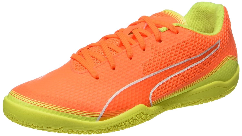 Puma Unisex-Erwachsene Invicto Fresh Fuszlig;ballschuhe  36 EU|Orange (Shocking Orange-puma White-safety Yellow 07)