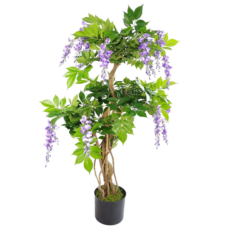 Leaf 110cm Artificial Purple Wisteria Tree LeafUK