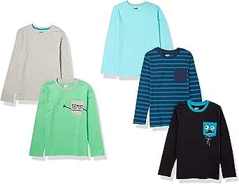 Spotted Zebra Niños camiseta de manga larga, Pack de 5