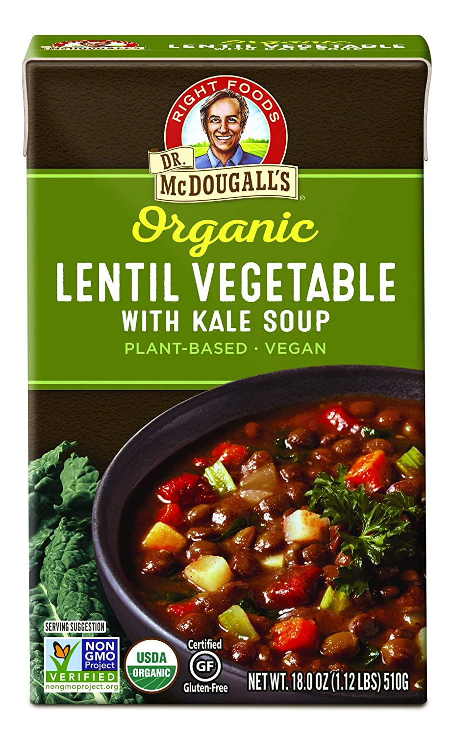 Dr. McDougall's Right Foods Soup,Organic Lentil Vegetable, 7.3 Pound (Pack of 6)