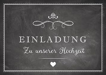Großartig U0026quot;Einladung Zu Unserer Hochzeitu0026quot; Einladungskarte Zur Hochzeit In  Schwarz/ Anthrazit Im U0026quot