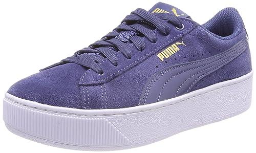 Puma Vikky Platform Sneaker Donna Blu Blue Indigo Blue Indigo 42.5 EU