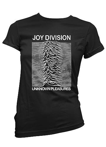 LaMAGLIERIA T-Shirt Donna Joy Division - Maglietta Rock 100% Cotone