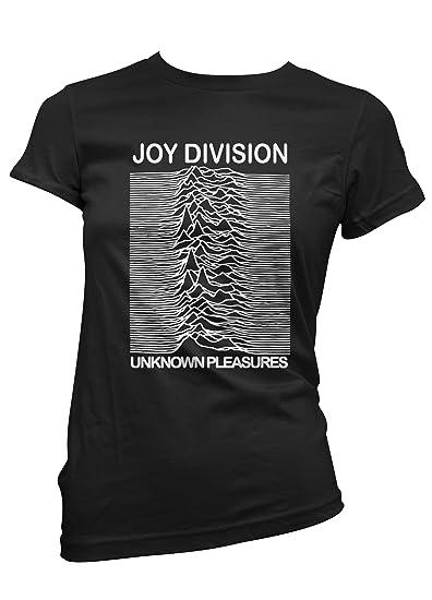 LaMAGLIERIA Camiseta Mujer Joy Division - Camiseta Rock 100% Algodon: Amazon.es: Ropa y accesorios