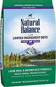 Natural Balance L.I.D. Limited Ingredient Diets Large Breed Bites Dry Dog Food with Grains