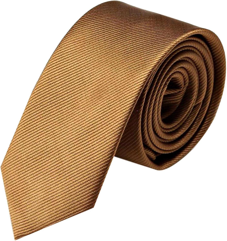 einfarbig fein gestreift GASSANI schmale Krawatte 6cm Herrenkrawatte zum Anzug Schlips Binder in 19 modischen Farben