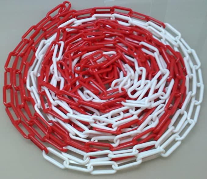 1 opinioni per PCH-6x25.0 Catena di plastica rossa e bianca 6 mm, lunghezza 25 metri