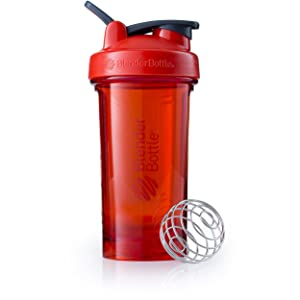 BlenderBottle Pro Series Shaker Bottle, 24-Ounce, Red